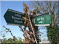 ST9785 : Footpath sign at the top of Clay Street by Neil Owen