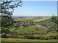 SE8351 : View  over  Millington  from  f/p  on  top  of  Whinney  Hill by Martin Dawes
