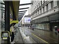 SJ8498 :  Market Street in the rain by Gerald England