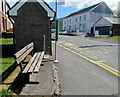 SN7910 : Memorial bench on an Ystradgynlais corner by Jaggery