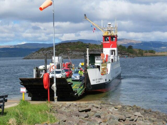 CalMac ferry, Isle of Cumbrae, berthing at Portavadie