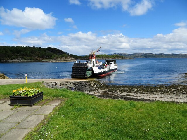 Ferry berthing at Tarbert, Loch Fyne