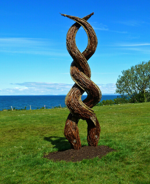 Eel sculpture at Culzean Country Park