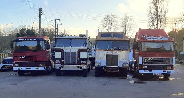 Leftover lorries in Longhope