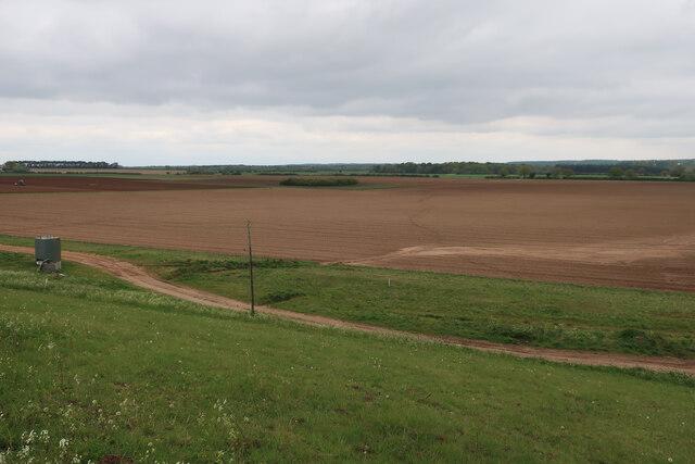 Fields near Lackford