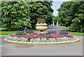 TQ1877 : Circular flower bed at end of the Broad Walk, Kew Gardens by Martin Tester