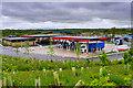SE3531 : Heavy Goods Fuel Forecourt, Leeds Skelton Lake Services by David Dixon