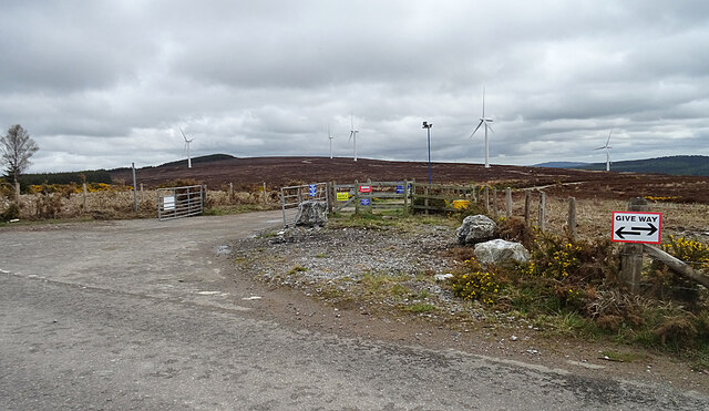 Hill of Towie Wind Farm East Entrance