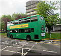 ST2995 : Newport Bus double decker leaving Cwmbran Bus Station by Jaggery