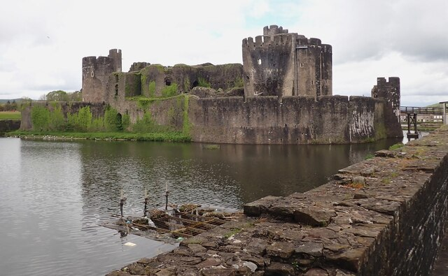 Caerphilly Castle - from South Dam Platform (southern end)