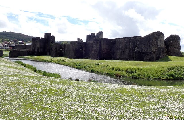 Caerphilly Castle - Eastern walls and Outer East Moat