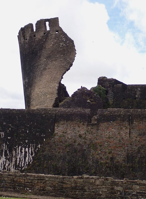 Caerphilly Castle - The leaning Southeast Tower from the East