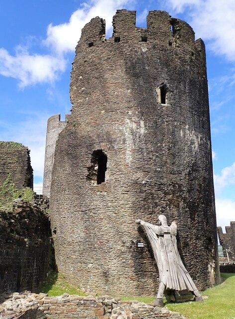 Caerphilly Castle - Holding up the Southeast Tower!