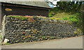 SX0990 : Cornish hedge, New Road, Boscastle by Derek Harper