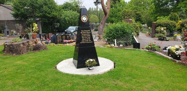 Covid Memorial, Brunswick Park Cemetery, London N11
