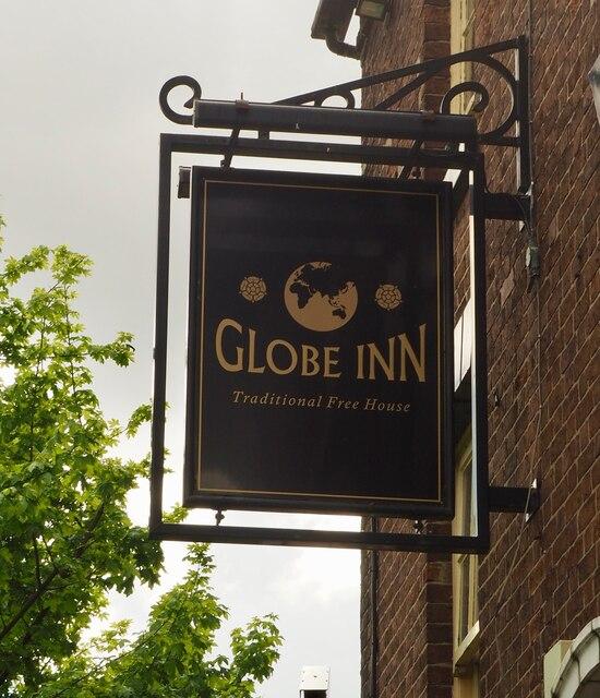 The sign of the Globe Inn
