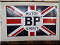 TF1604 : Period BP Motor Spirit advertising sign at The Ploughman, Werrington by Paul Bryan