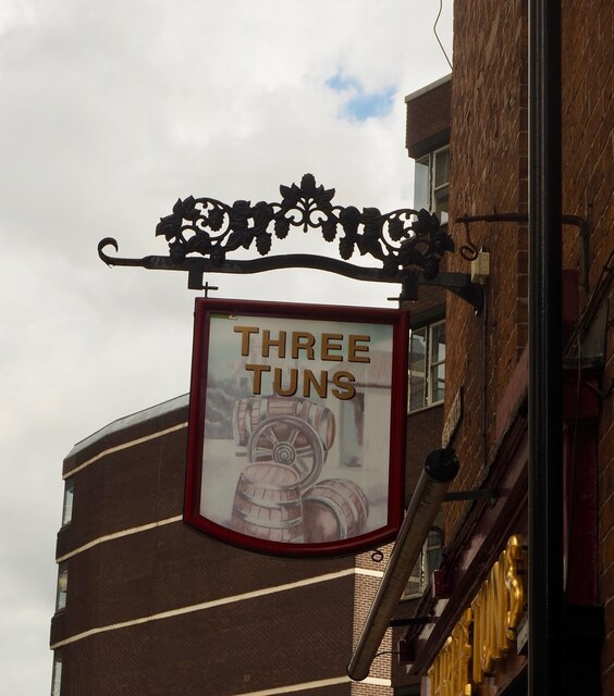 The sign of the Three Tuns