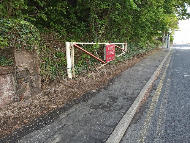 Flood gate on the A78 in Skelmorlie