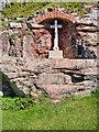 NU1835 : The War Memorial at Bamburgh Castle by David Dixon