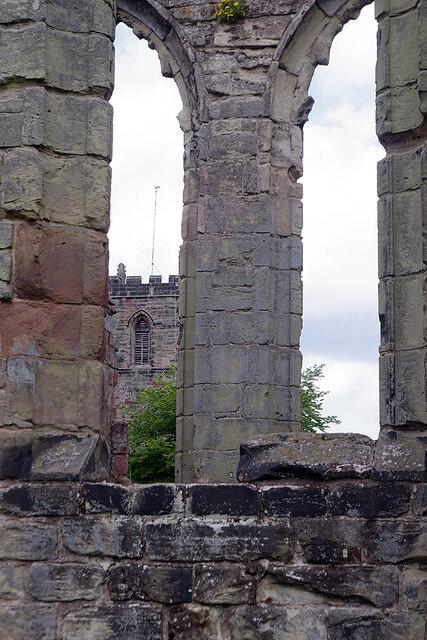 St Helen's Church from Ashby Castle