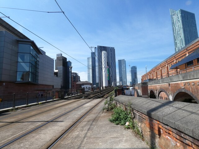 Looking down the tram tracks