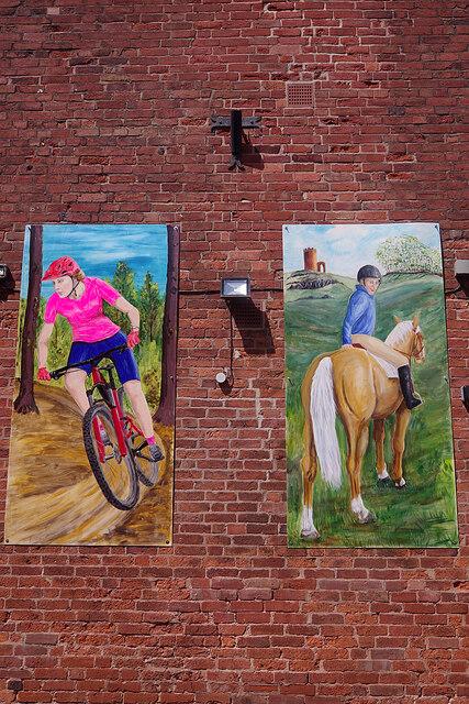 Art in Rushtons Yard, Ashby-de-la-Zouch