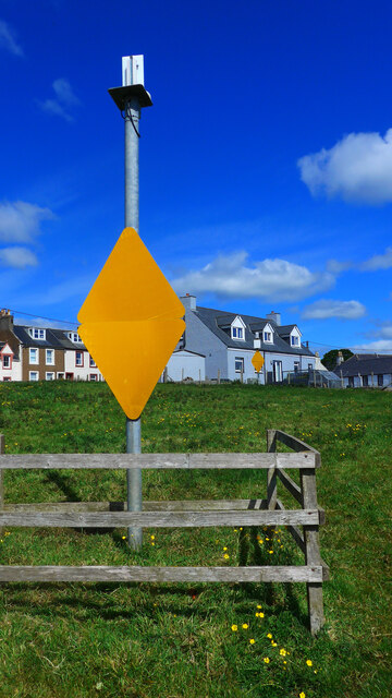 Leading marks for Isle of Whithorn harbour