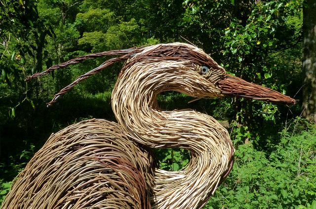 The Grey Heron sculpture