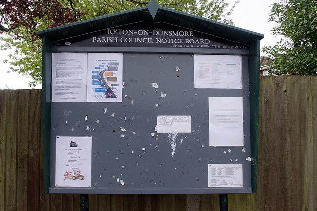 Ryton on Dunsmore Parish Council Notice Board