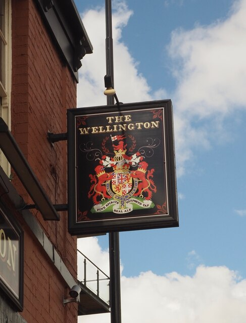 The sign of The Wellington