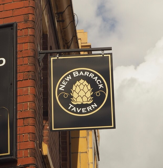 The sign of the New Barrack Tavern