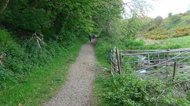 The path in Physgill Glen