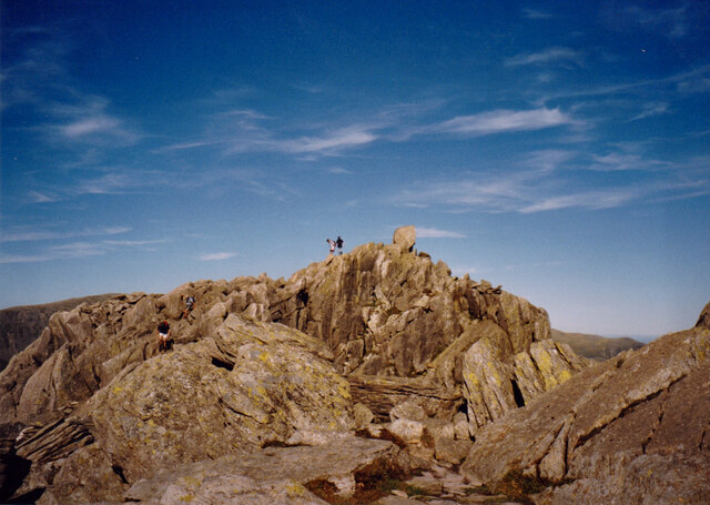 The craggy summit of Tryfan