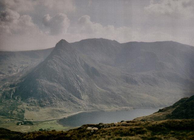Tryfan from the valley of Afon Lloer