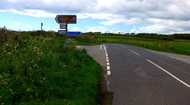 The road to St Ninian's Cave