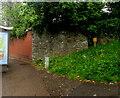 ST3089 : Stone wall and brick wall on a Crindau corner, Newport by Jaggery
