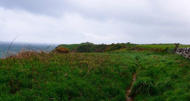 Clifftop path to Cruggleton Castle