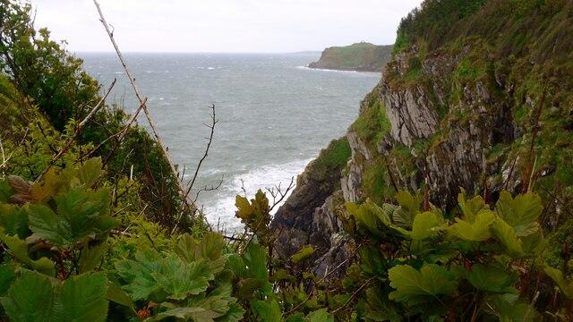 Inlet on the coastal path to Cruggleton Castle