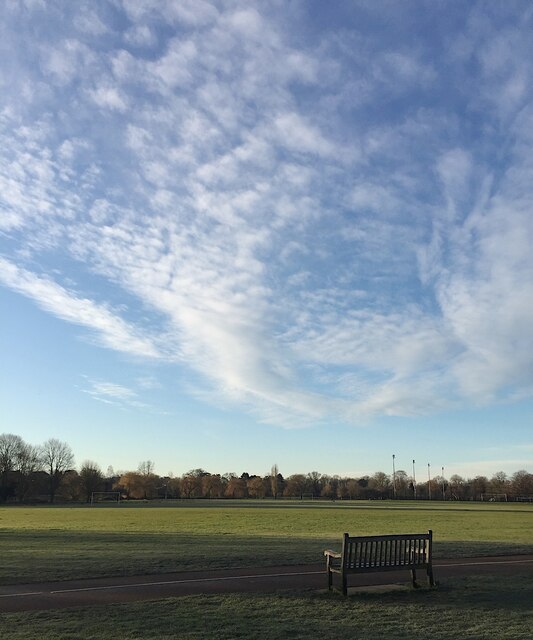 Forms of cirrus seen from St Nicholas Park, Warwick