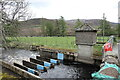 NO4480 : River Mark Gauging Station by Andrew Curtis
