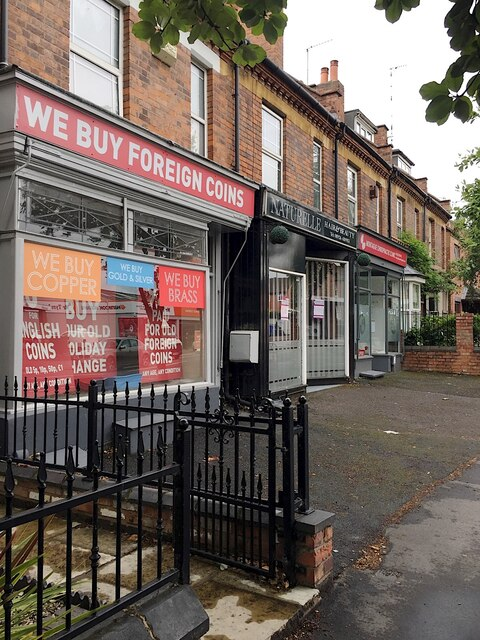 Shops on Emscote Road, Portobello, Warwick