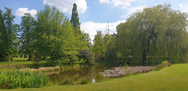 Pond at West Lodge Park Hotel, Cockfosters