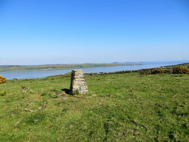 Trig pillar at the highest point on Inchmarnock 60m
