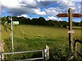 SP9908 : Footpath crossing, Hertfordshire Way, near Berkhamsted by Alan Paxton