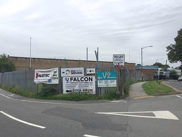Advertisements for Lock Lane businesses, Warwick
