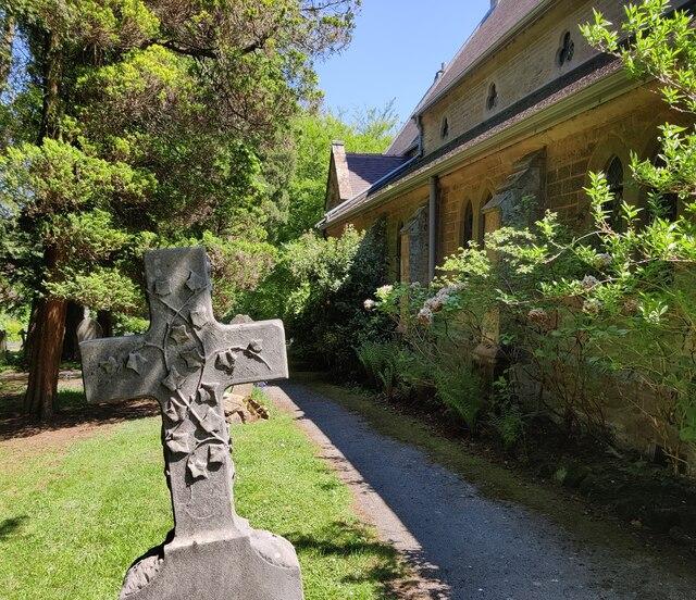 Gravestone at Holy Trinity Church, Lickey