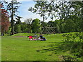 NS9264 : Swing and play area at Polkemmet Country Park by M J Richardson