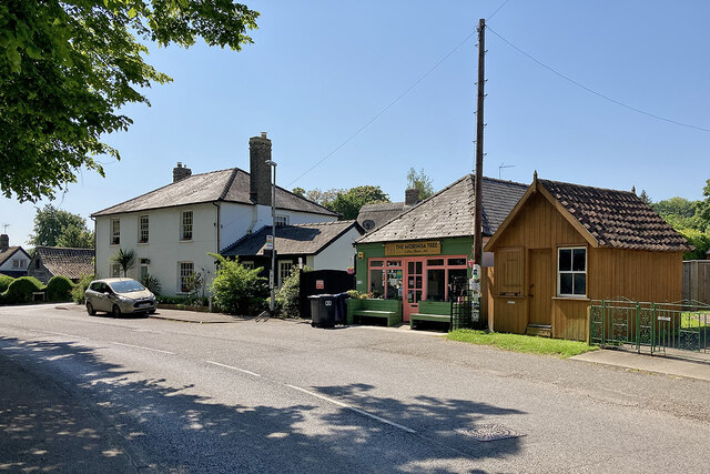 Haslingfield: Church Street and The Moringa Tree
