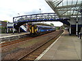 NX9776 : Footbridge, Dumfries Railway Station by JThomas